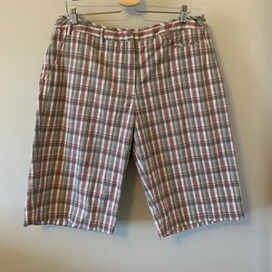 2/$18 FUN & RETRO / Plaid / Knee Length / Shorts